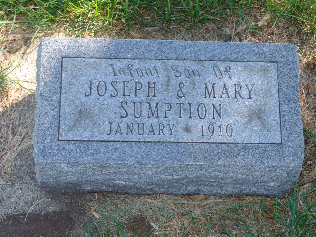 Infant of Joseph & Mary Sumption