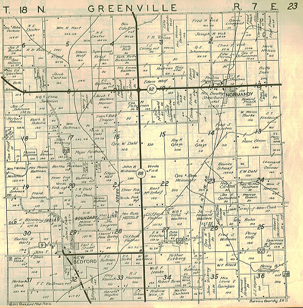 Greenville Plat Map 1952